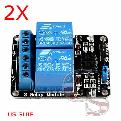2x 2 Channel Dc 5v Relay Switch Module For Arduino Raspberry Pi Arm Avr Dsp