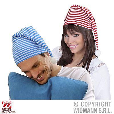 Schlafmütze Zipfelmütze rot oder blau weiss für Erwachsene - Junge Für Erwachsene Kostüm