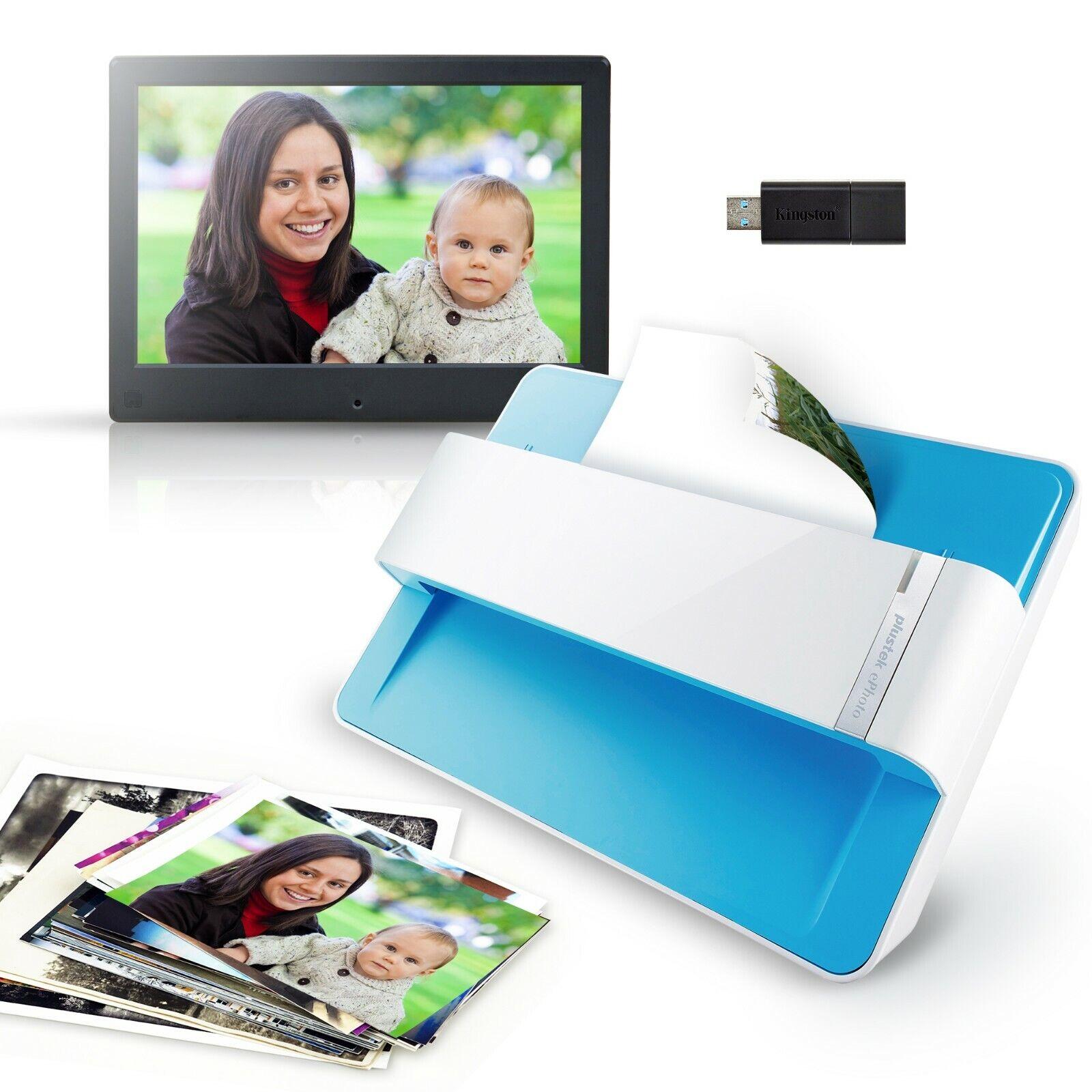 Plustek photo scan kit - Photo scanner + Digital Photo Frame