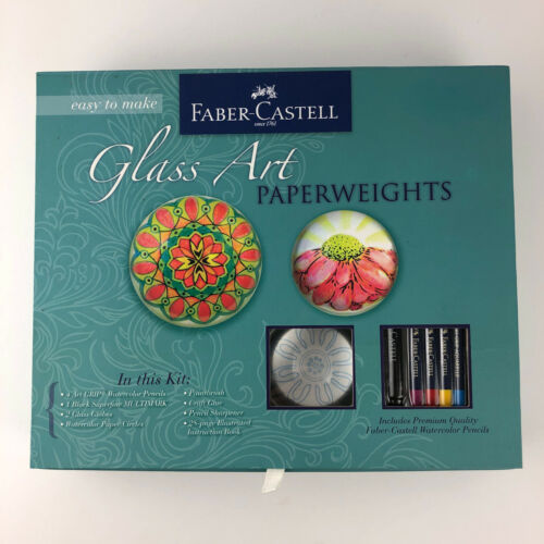 Faber Castell Glass Art Paperweights DIY Adult Craft Kit New in box