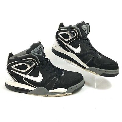 79942db78e62 Nike Air Flight Falcon 397204-012 Black/White Men's Basketball Shoes Size 9