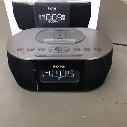 IHome IBTW38 Alarm Clock Bluetooth Stereo With Lightning IPhone Qi Wireless Dock