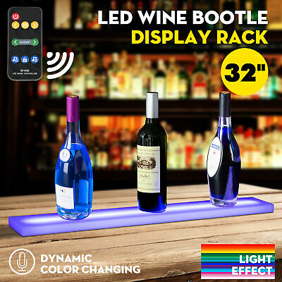 32 Music-activated Led Lighted Bar Liquor Display Shelf Wine Bottle Stand Rack