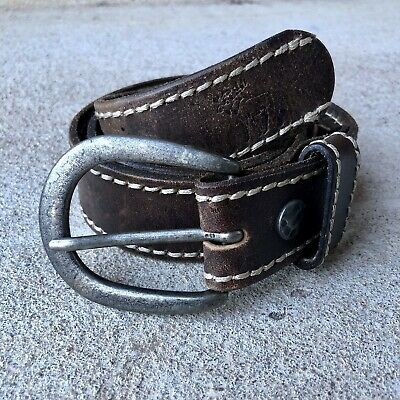Abercrombie & Fitch Genuine Leather Belt ~ Sz. S/M 30-32 Vintage