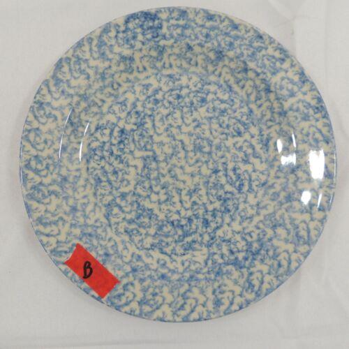 "Blue Sponge by Workshop Gerald Henn Dinner Plate 9 7/8""  B"
