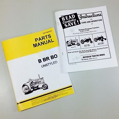 Service Manual For John Deere Model B Bn Bw Bnh Bwh Unstyled Tractor Owner Parts