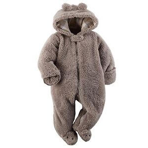 ISO - grey carter's Sherpa snowsuit/bunting