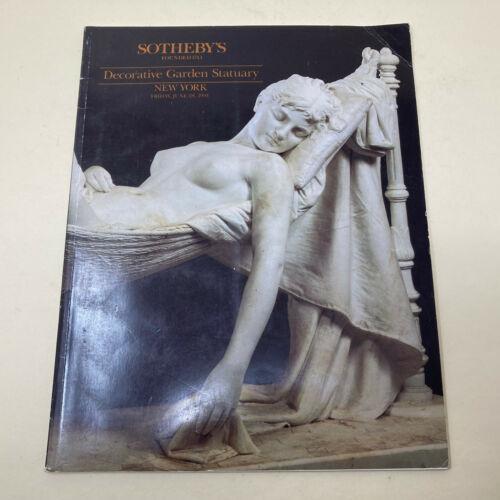 Sothebys Auction Catalog DECORATIVE GARDEN STATUARY New York 28 June 1991