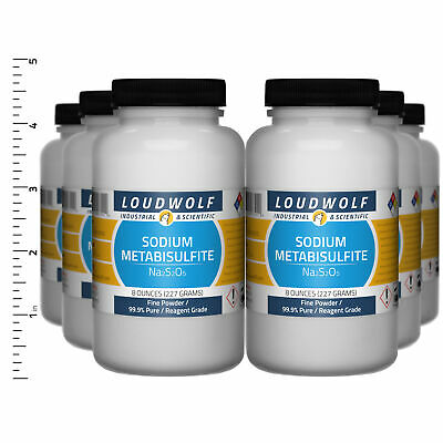 Sodium Metabisulfite 3 Lb Total 6 Bottles Reagent Grade Fine Powder
