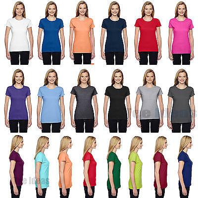 Fruit of the Loom Ladies' 100% Sofspun Cotton Jersey Junior Crew T-Shirt SSFJR