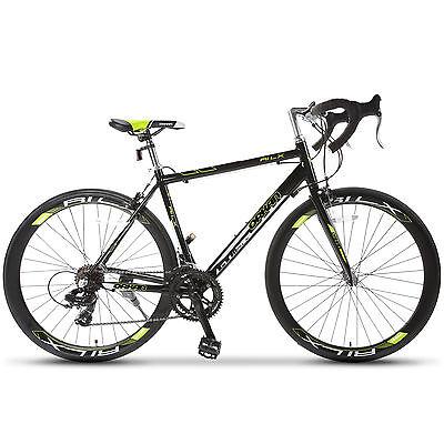 Aluminum Frame Fork 700C X 54C Shimano 14 Speed Road Bike Racing Bicycle Green