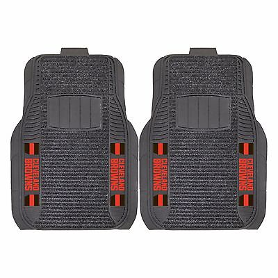 Cleveland Browns 2-Piece Deluxe Auto Floor Mats - Car, Truck, -