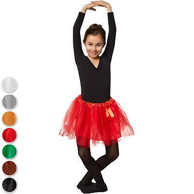 Kinder Tutu Tütü Tüllrock Ballett Ballettrock Petticoat Mädchen Karneval (Ballett Kostüm Kinder)