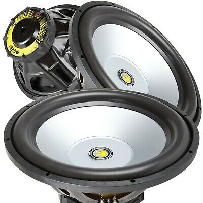 Pares ng Gravity 15 Inch 3200 Watt Car Audio Subwoofer w / 4 Ohm Power (2 SUB)
