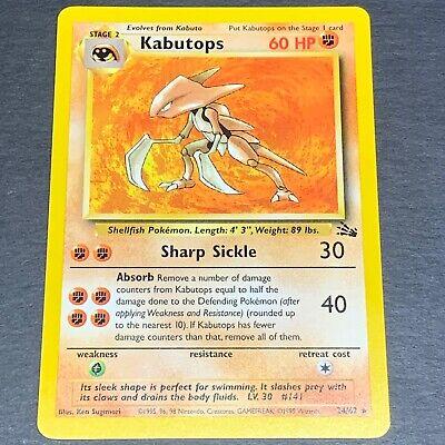 "Pokemon Fossil  24//62  /""Kabutops/"" NMint-Mint"