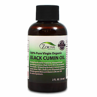 Black Cumin Seed Oil 100% Pure, Cold Pressed, Virgin Organic, 2 fl. oz. (59ml)