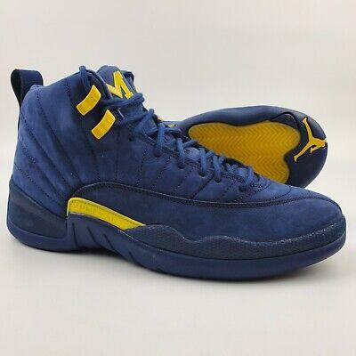 Nike Air Jordan 12 Retro Michigan Wolverines NRG Basketball Shoes (Nike Air Jordan Retro Hoops)