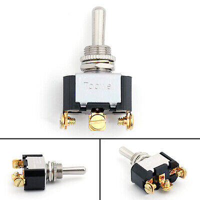 1pcs 12mm Toggle Switch 3 Pin 3 Position On-off-on 10a 250vac Industrial Ua