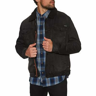 Superdry Hacienda Sherpa Denim Mens Jacket - Bode Black Worn All Sizes