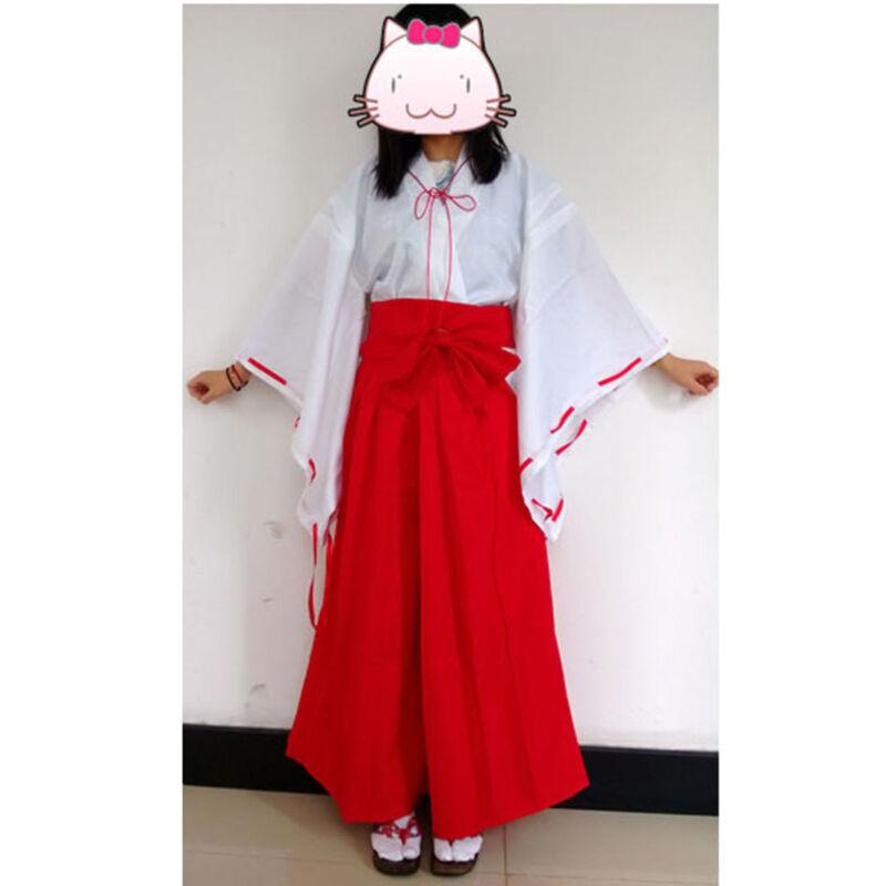 New Japanese anime Inuyasha Psychic Kikyo Kimono Cosplay Size L Halloween