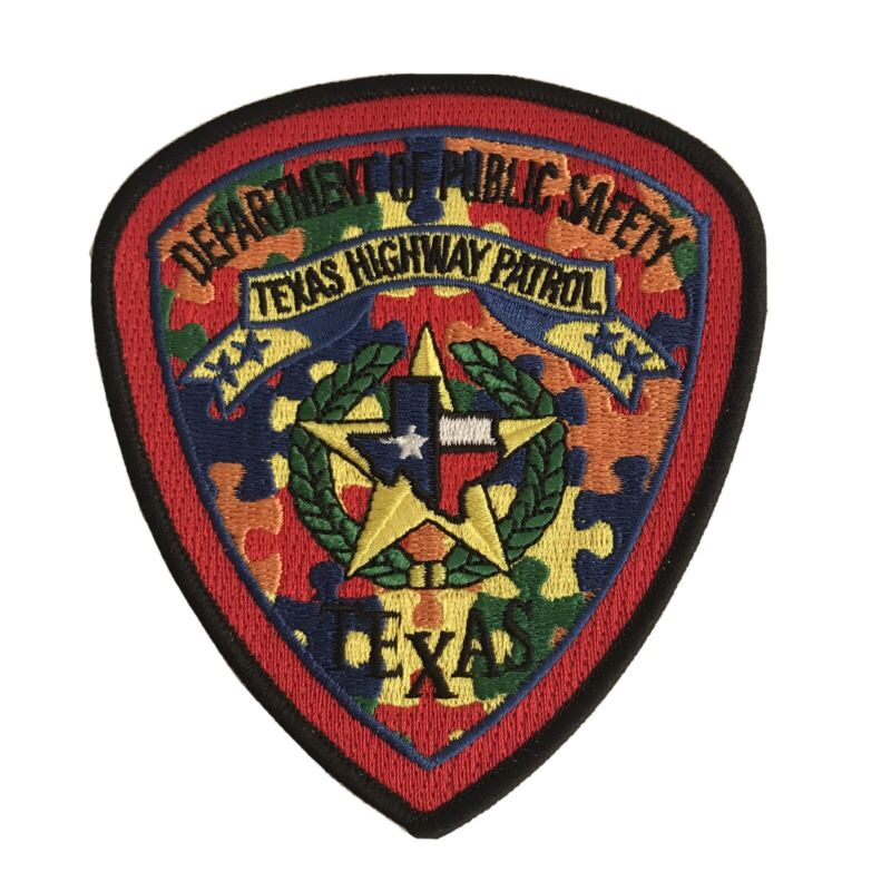 Texas Department Of Public Safety Autism Awareness Patch State Police