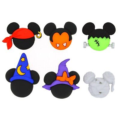 Disney Spooky Halloween (Disney Mickey & Minnie Halloween Hats - Halloween Buttons - Spooky Costume Heads)