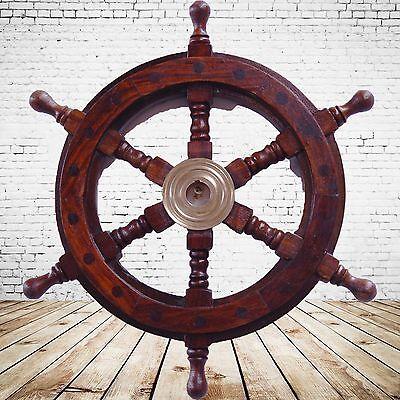 Schiffs Ruder massiv Teakholz Maritime Dekoration Steuerräder Nautica Geschenk