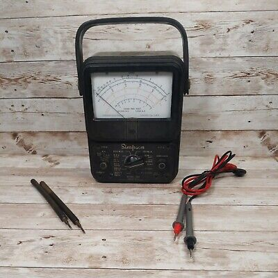 Early Vintage Simpson Model 260 Multimeter Usa Tested Working
