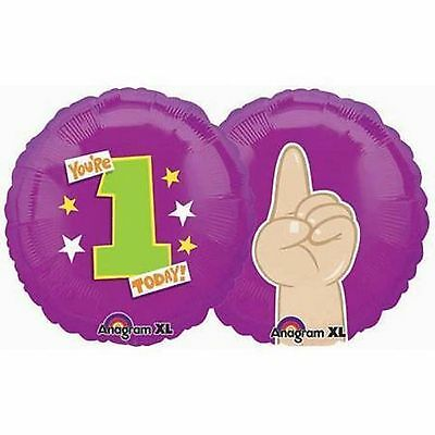 First 1st Birthday One Today Balloon 18 Inch Mylar Foil Baby Toddler - Todays Birthday