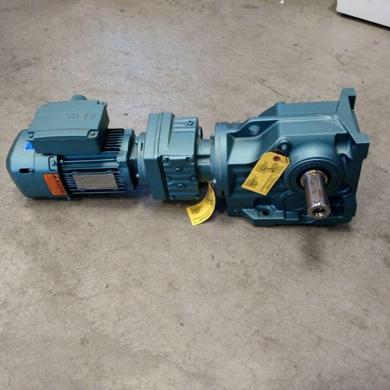 Sew DRS71M4BE05HFTFZ Motor, 0.75 HP, 1690 RPM, IP54TEFC Frame, 460V - NEW