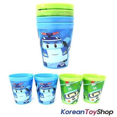 Robocar Poli Plastic Cups 4 pcs Cup Set (2 Colors - Blue & Green)