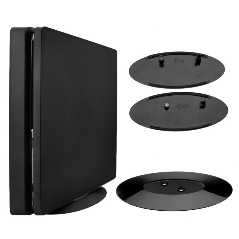 Vertical Console Stand Cool Fan w/Game Storage Fit for PS4 Pro /Slim / XboxOne