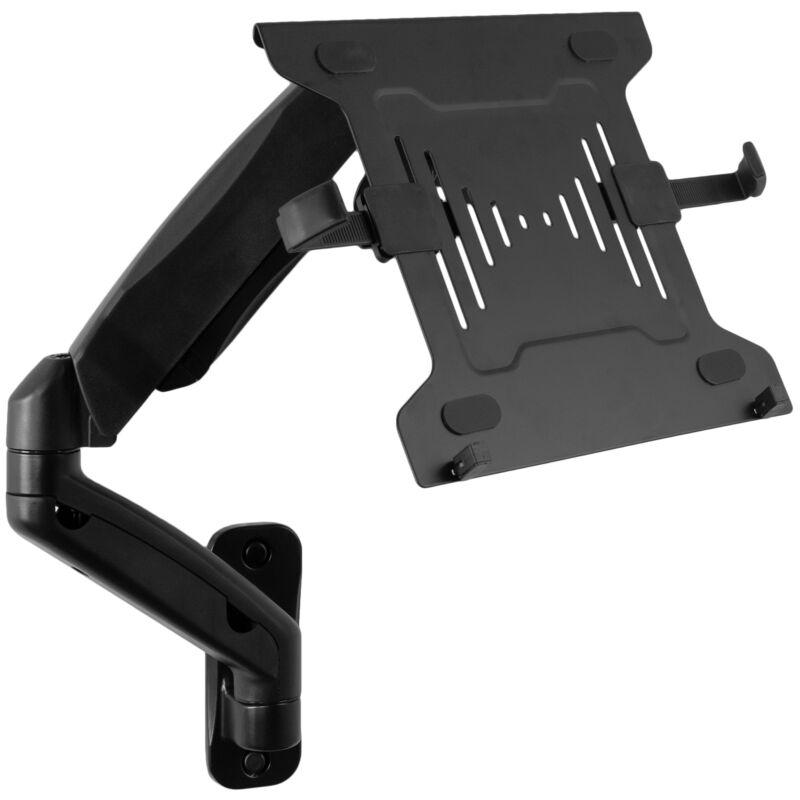 "VIVO Universal Adjustable 10"" to 15.6"" Single Laptop Pneumatic Arm Wall Mount"