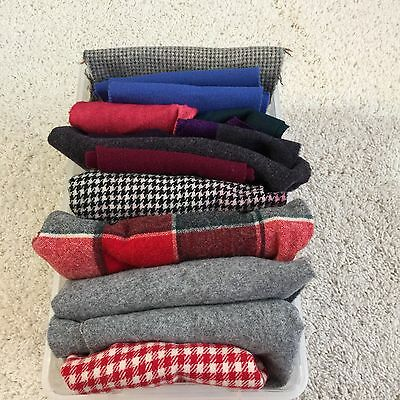 Wool Fabric for Rug Hooking, Crafts, Sewing 1 lbs 10 oz