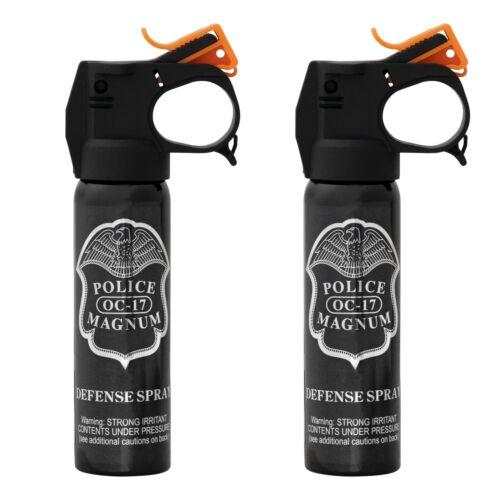 2 POLICE MAGNUM Pepper Spray 4oz FireMaster Fogger Home Defense Protection OC