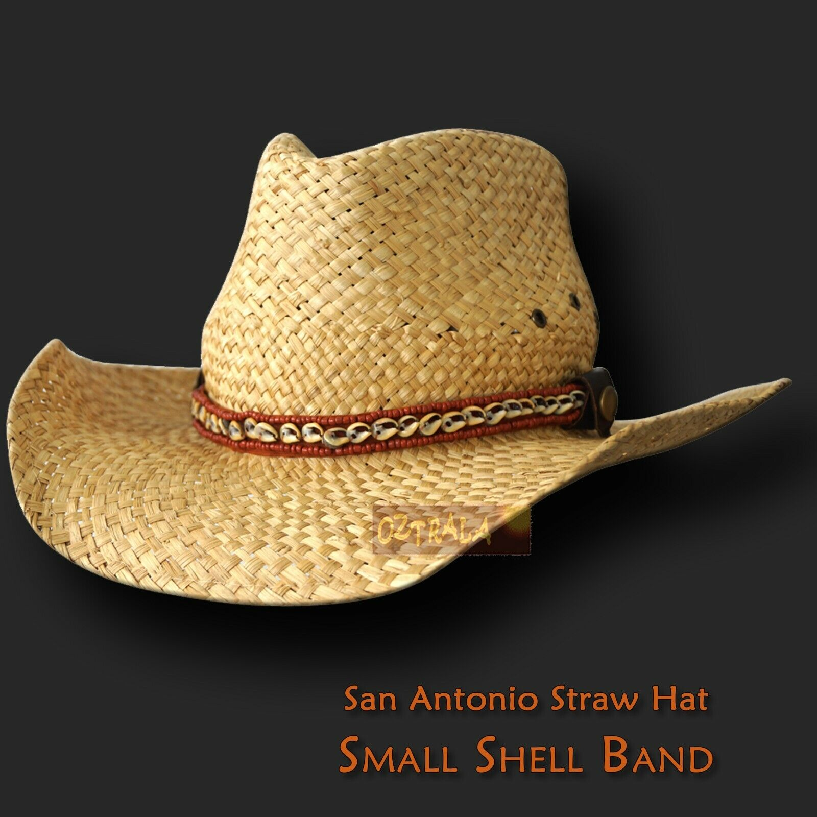 ~oZtrALa~ HAT Australian BUFFALO Leather OUTBACK Men/'s Ladies Band Cowboy JACARU