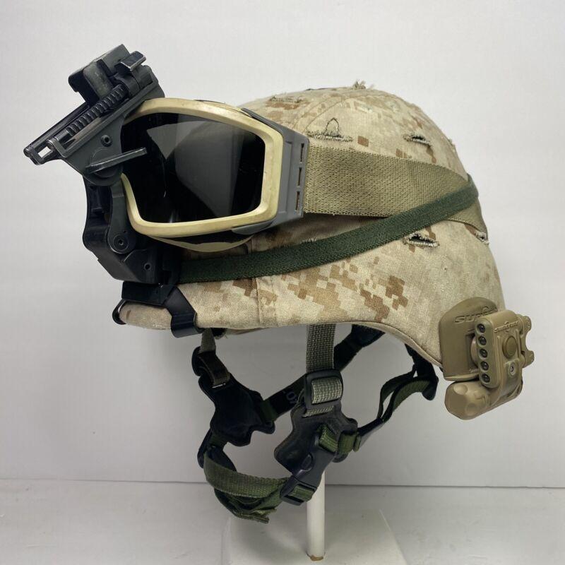 Large Gen 1 LWH USMC Marine Corps Lightweight Helmet MARPAT Combat Ballistic