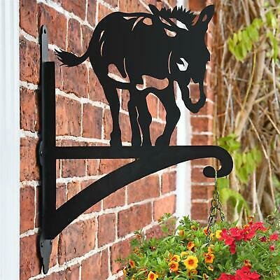 New Donkey Hanging Iron Basket Bracket - 46cm x 33cm