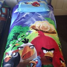 Angry Birds Doona Cover + Pillow slip-Reversible Maryland 2287 Newcastle Area Preview