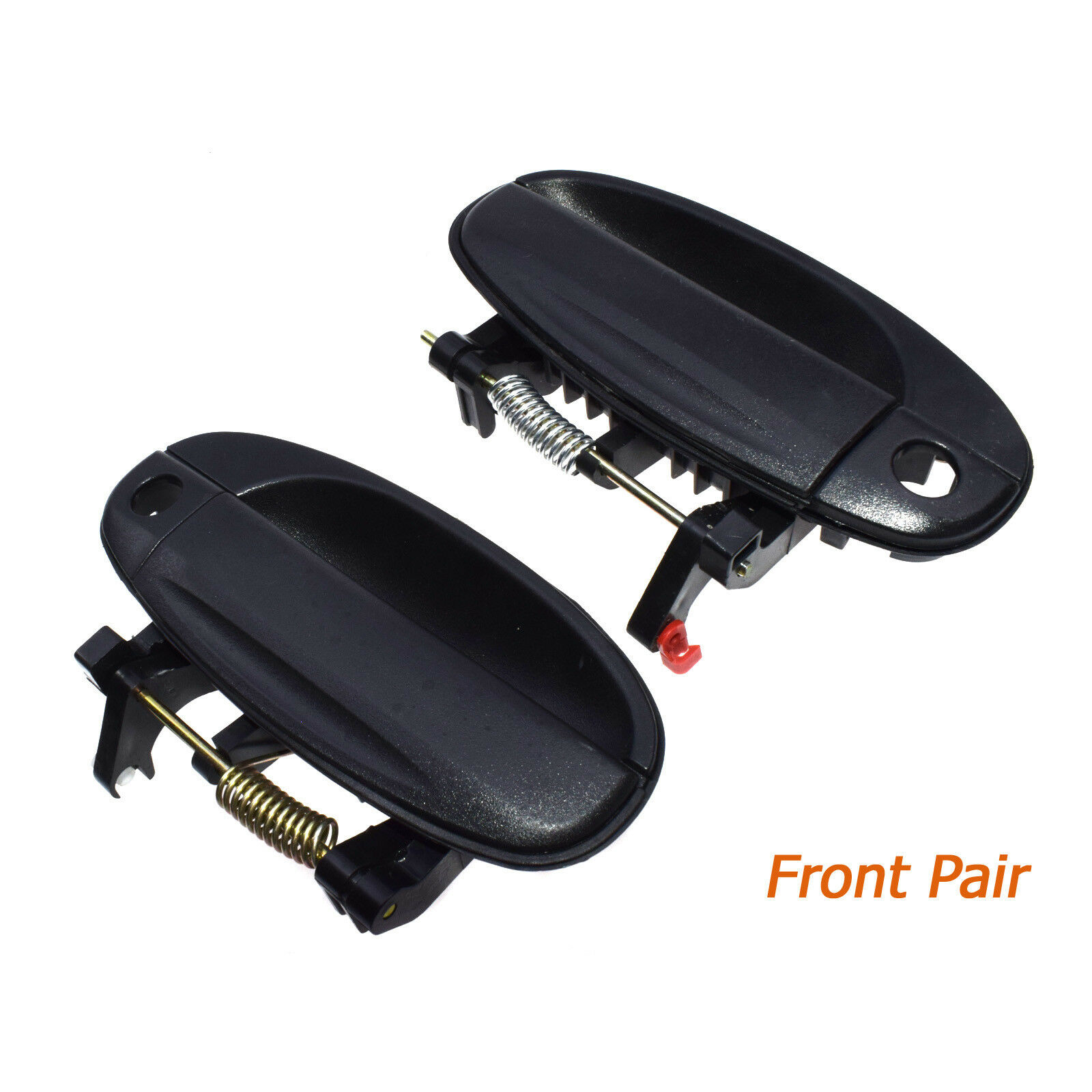 Pair For 04-08 Chevy Aveo Front Black Outside Outer Exterior Door Handles New