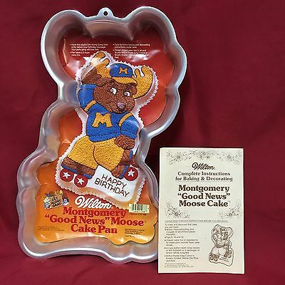 Wilton Cake Pan 2105 1968 Montgomery Good News Moose Get Along Gang Roller Skate