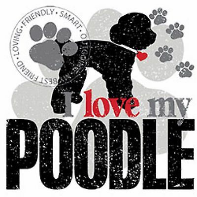 - I Love My Poodle Ladies Womens Tank Top Pick Your Size