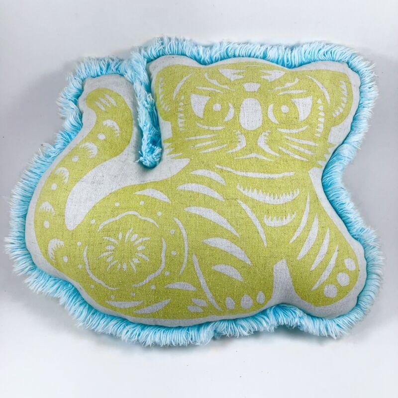 Thomas Paul Tiger Nursery Pillow w/Chenille Trim Child Kid Decor