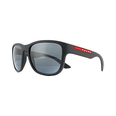 Prada Sport Sunglasses PS01US UFK5L0 Grey Rubber Dark Grey Mirror