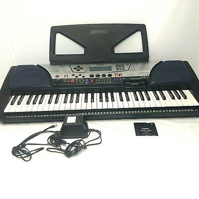 Yamaha PSR-340 Portable Electronic Keyboard Music Rest Power Supply Floppy Disk