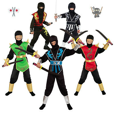 NEU! Halloween Ninja Kostüm Kinder Jungen Ninjakostüme Junge Fasching Karneval