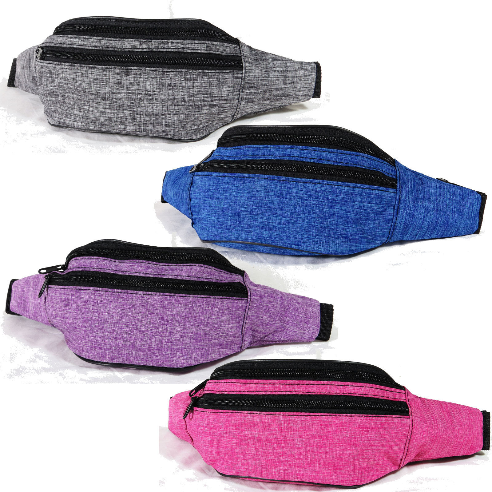 Space Dye Fanny Pack Belt Waist Bag Active Sport Gym Travel Shopping Hip Pouch