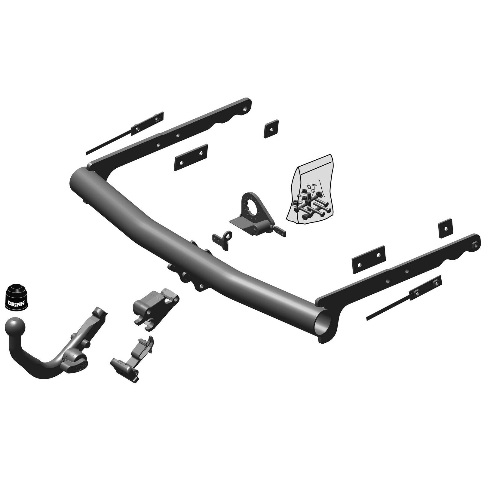 Brink Towbar for Ford Mondeo Hatchback 2007-2015 Detachable Tow Bar