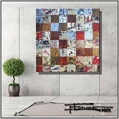 ABSTRACT MODERN  PAINTING Canvas WALL ART  Signed, Large, US 36in. ELOISExxx