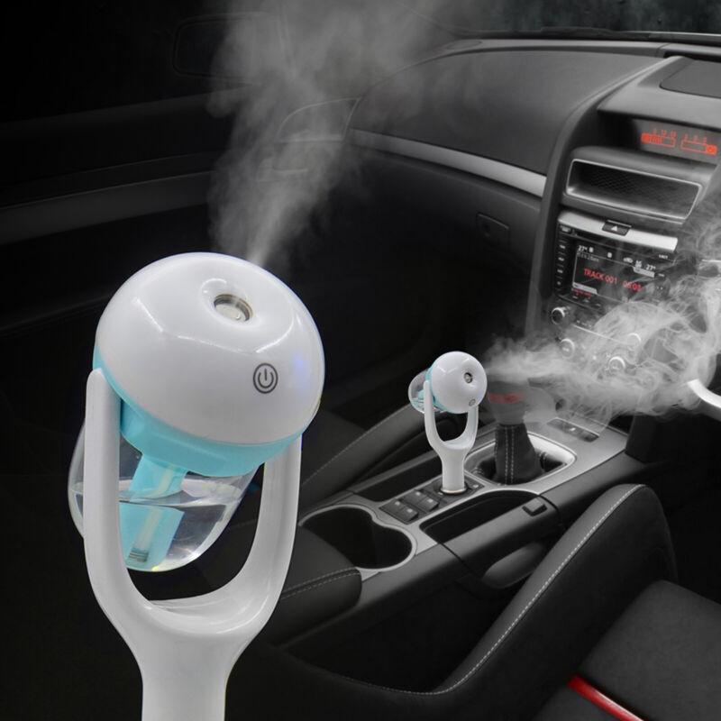Telimocy Mini Car Air Humidifier Diffuser Essential Oil 180 Degree Rotation Mist